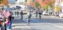 Courtesy photo.  Soldiers from Company B, 2nd Battalion, 12th Infantry Regiment, 4th Brigade Combat Team, 4th Infantry Division, conduct a faux patrol during the ninth Pueblo Chieftain Veteran's Day Parade, held Saturday in Pueblo.