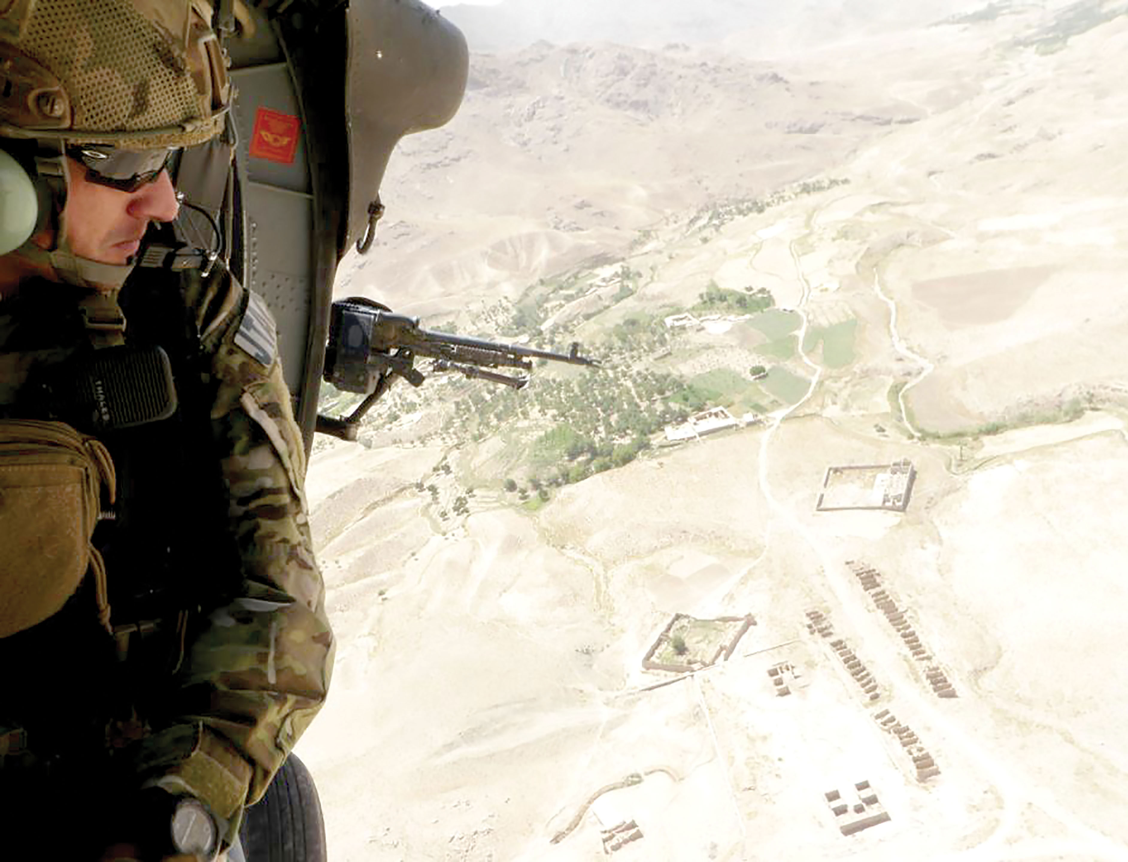 (Photo courtesy 13th ASOS) Staff Sgt. Josh Lynch, 13th Air Support Operations Squadron joint terminal attack controller, heads out on a mission during a recent deployment to southern Afghanistan.