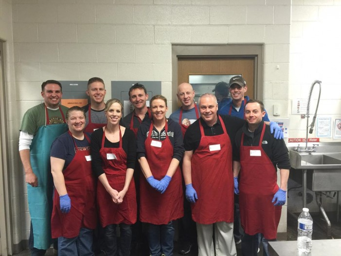 Team Blackjack volunteers at local soup kitchen