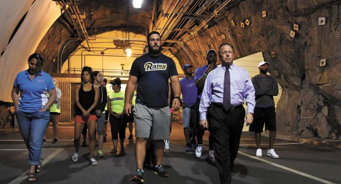 NFL and Olympic athletes tour Cheyenne Mountain