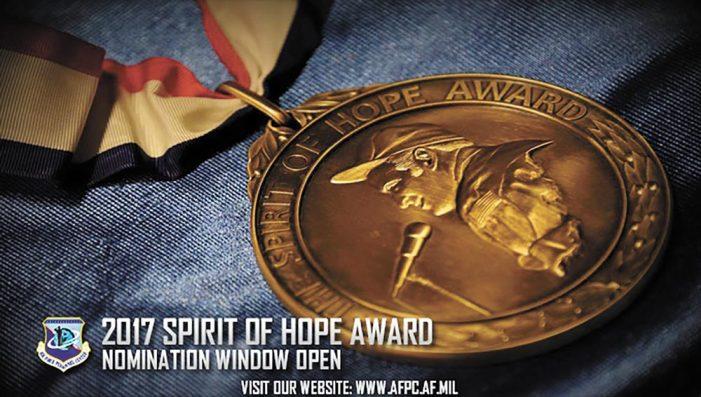 Nomination window open for 2017 Spirit of Hope Award