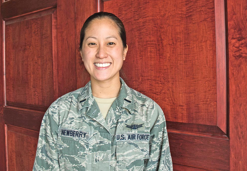 U.S. Air Force photo/2nd Lt. Scarlett Rodriguez 1st Lt. Ashley Newberry, 22nd Space Operations Squadron space operator, opens up on her childhood as a first-generation Asian-American. Newberry spoke fondly of the culture she stems from, even if being born and raised in Texas makes it difficult to understand some cultural differences.