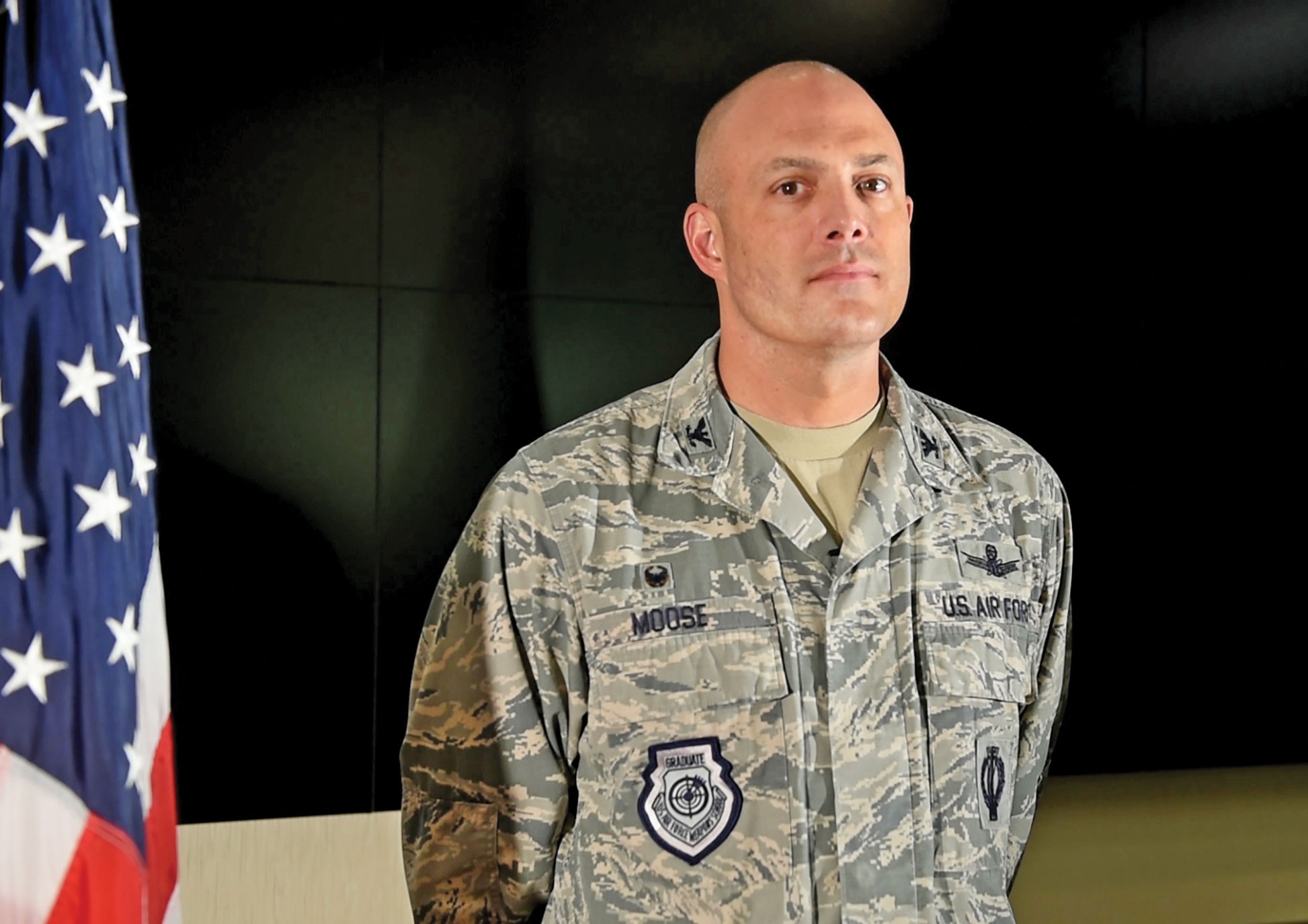 (U.S. Air Force photo by David Meade) Cheyenne Mountain Air Force Station, Colo. —Col. Robert Moose, 721st Mission Support Group commander, prepares for a media visit at Cheyenne Mountain Air Force Station, Colorado, Sept. 12, 2017. Moose took command of 721st MSG June, 2017.